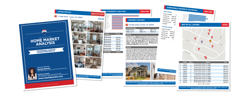 Comparable Market Analysis Report from Top Real Estate in my area